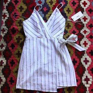 Cotton candy LA striped tie dress